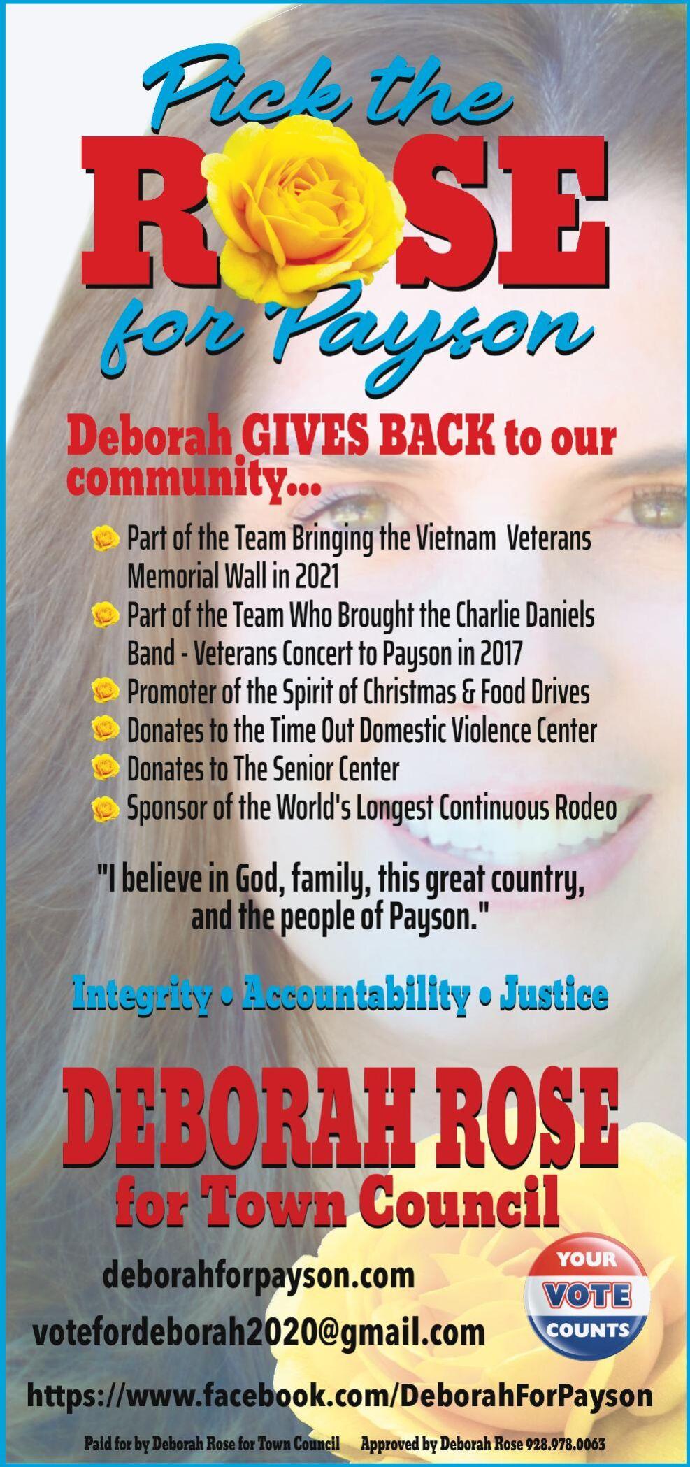 Deborah Rose for Payson Town Council
