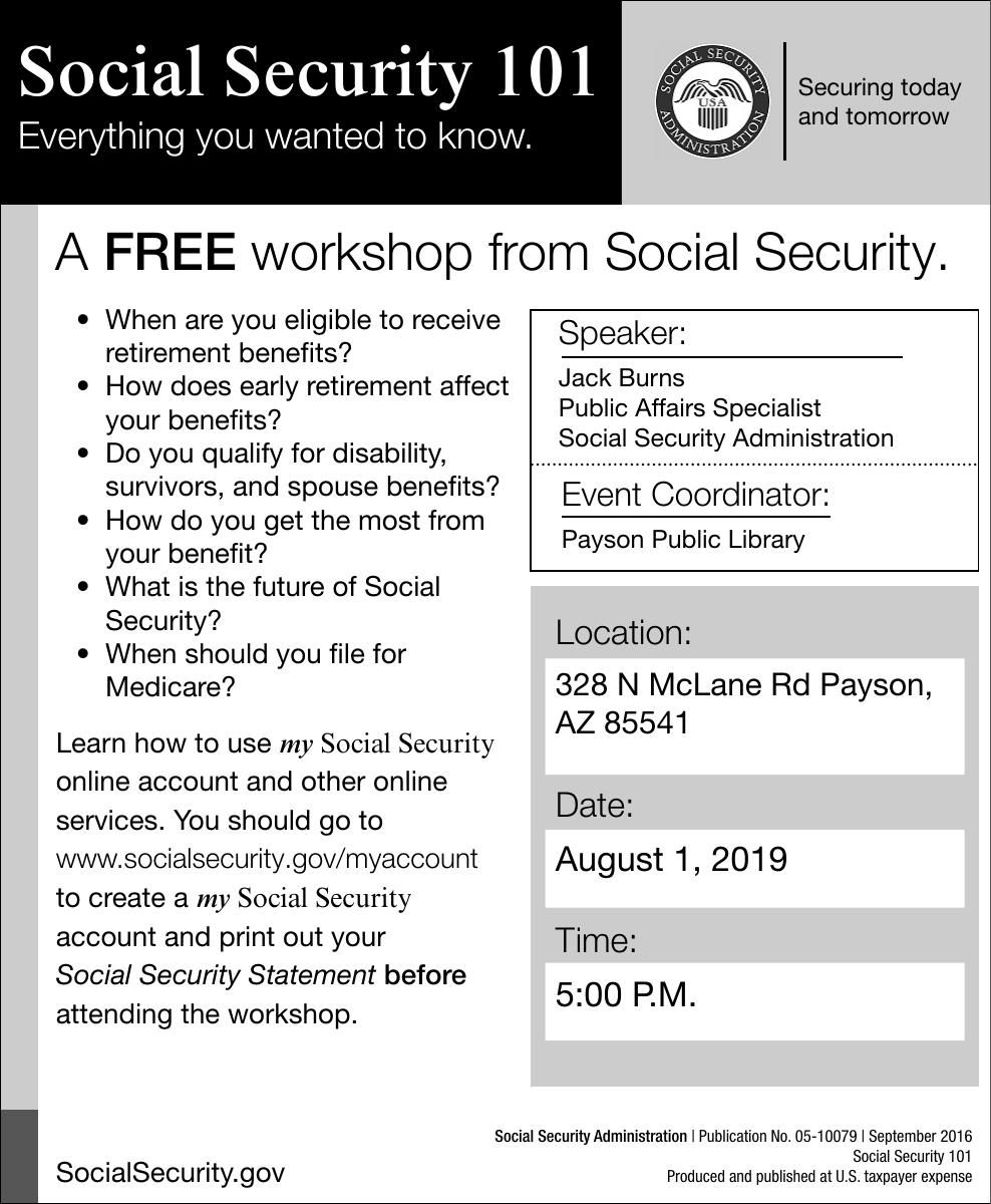 Free Social Security Workshop