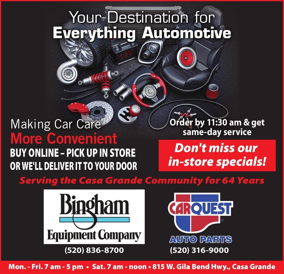 Bingham Equipment - Carquest Auto Parts