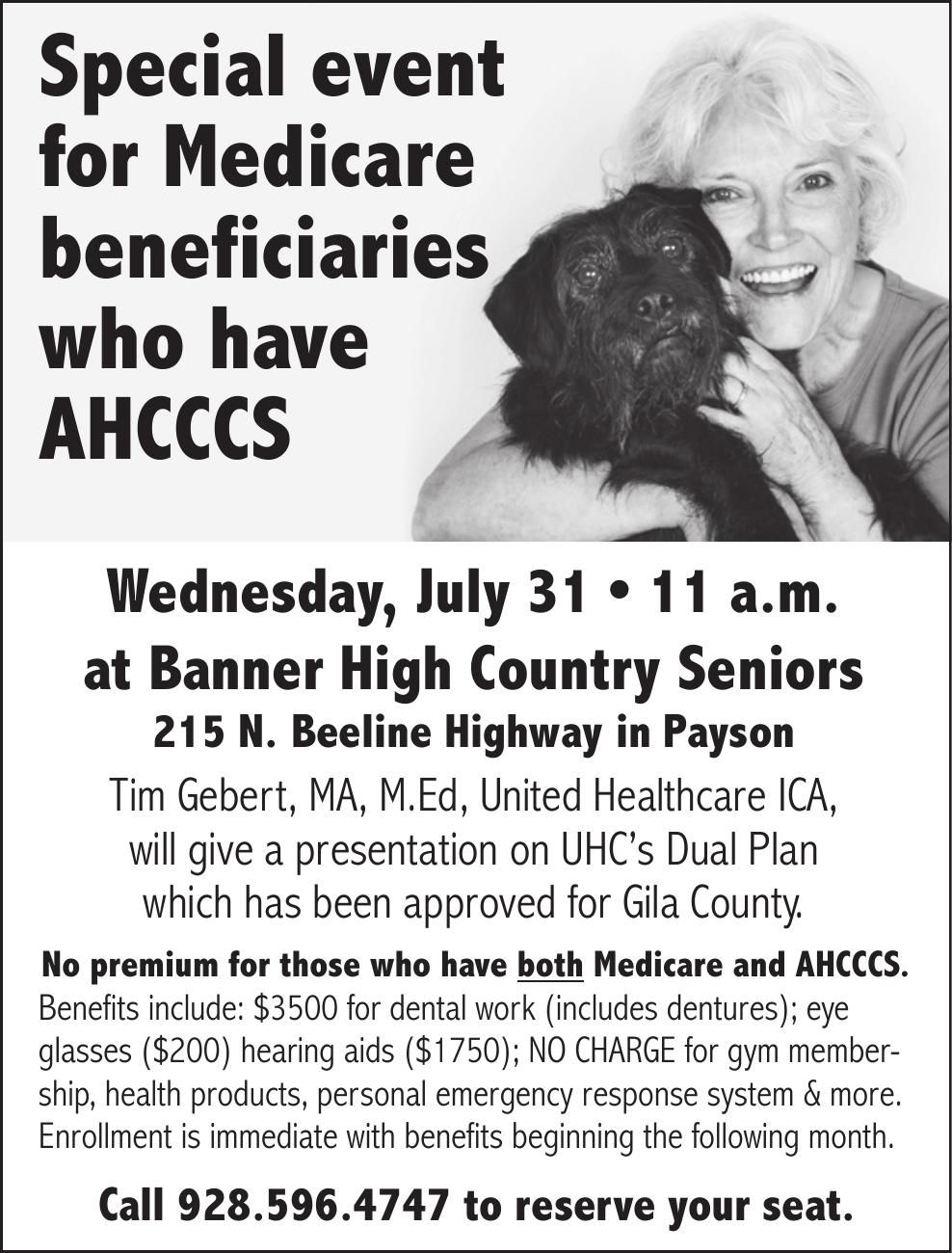 Attn: Medicare beneficiaries with AHCCCS