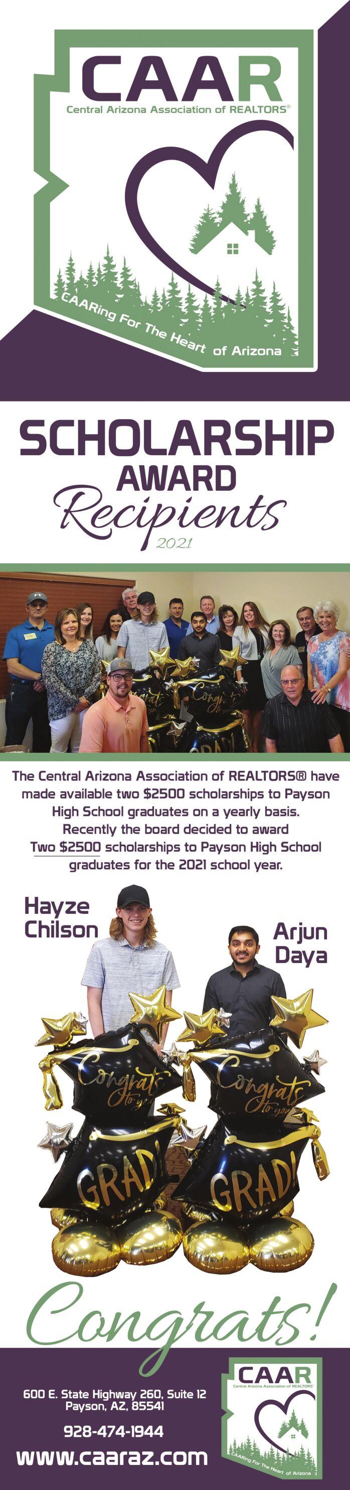CAAR Scholarship Award Recipients