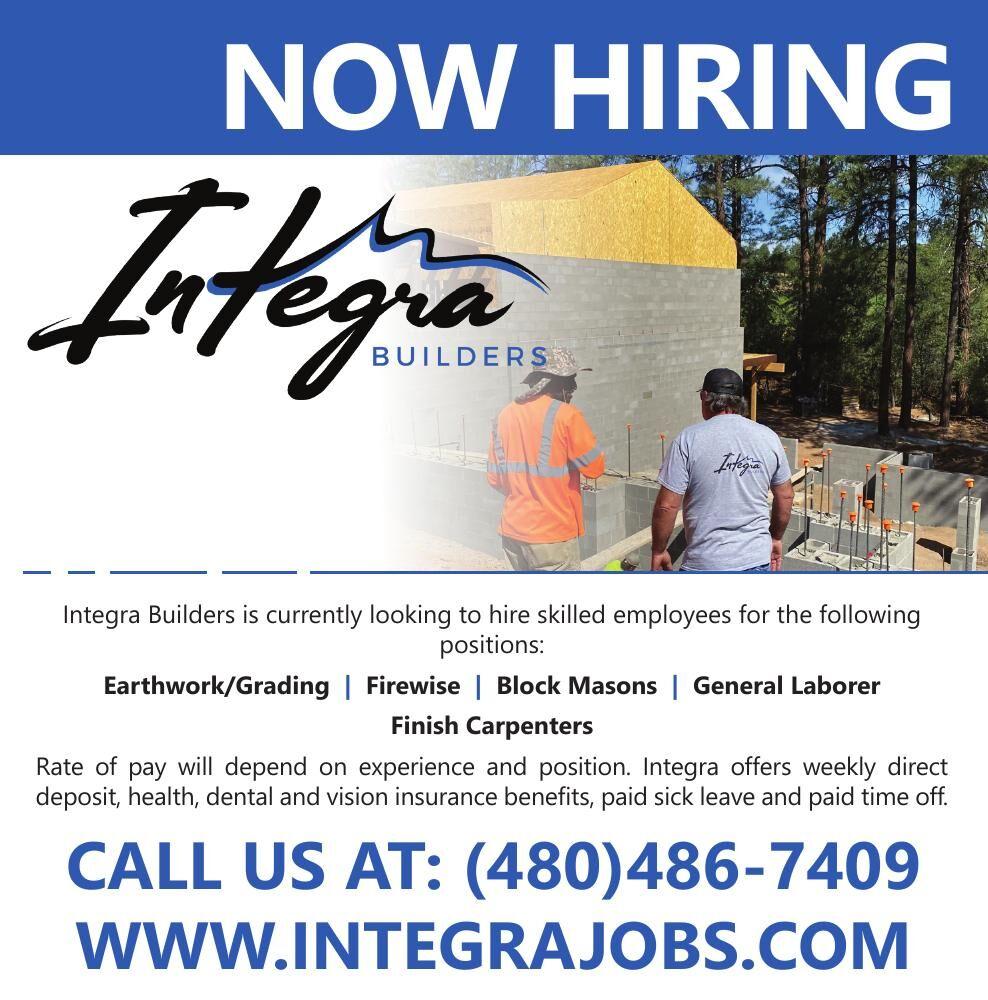 Integra Builders - Now Hiring