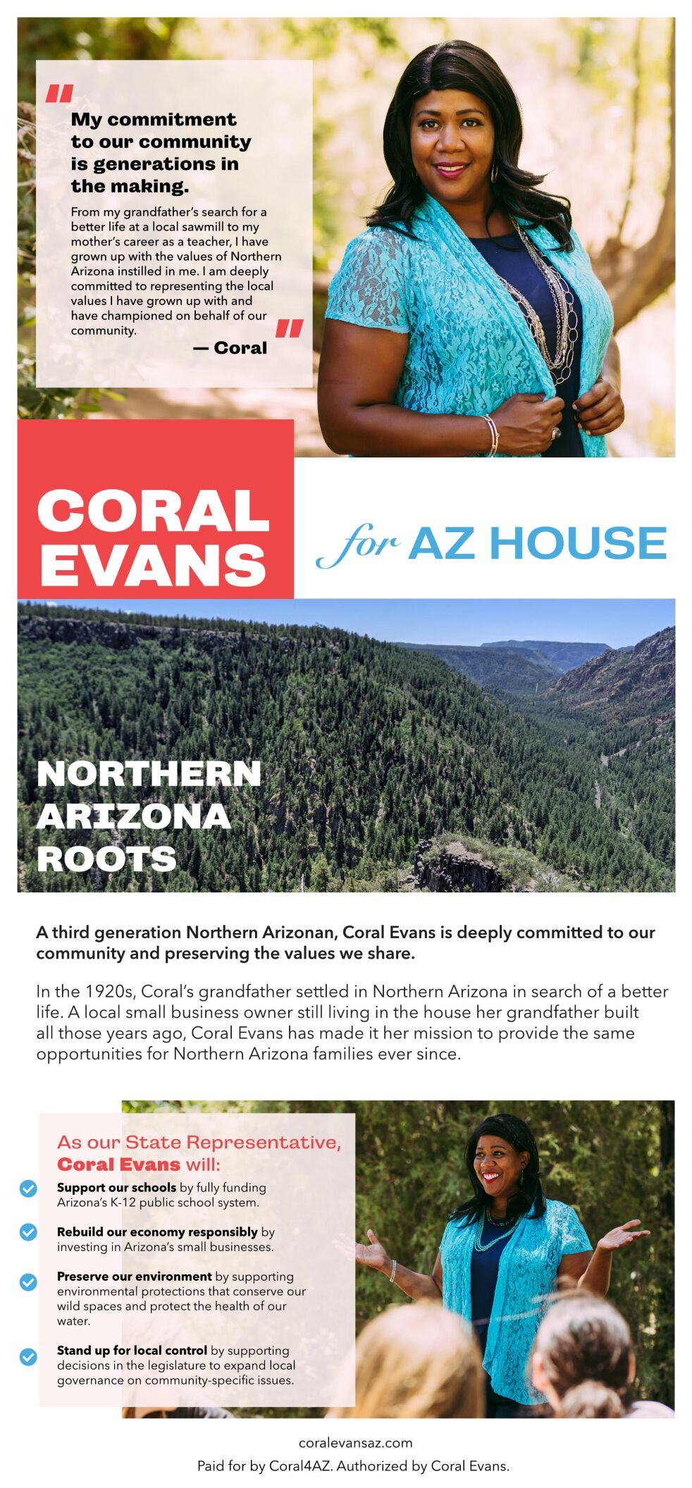 Coral Evans for AZ House