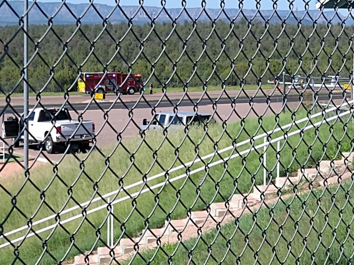 stan garner picture of emergency landing and fire trucks