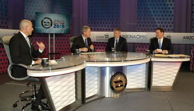 Governor's debate ducey, garcia and Torres