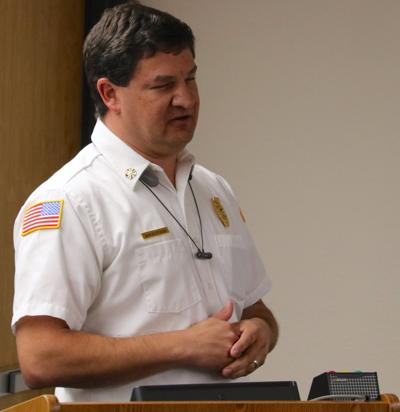 Payson Fire Chief David Staub talking about sprinklers Dec 12, 2019