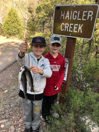 Jacob and Justus Gabbel With Fish