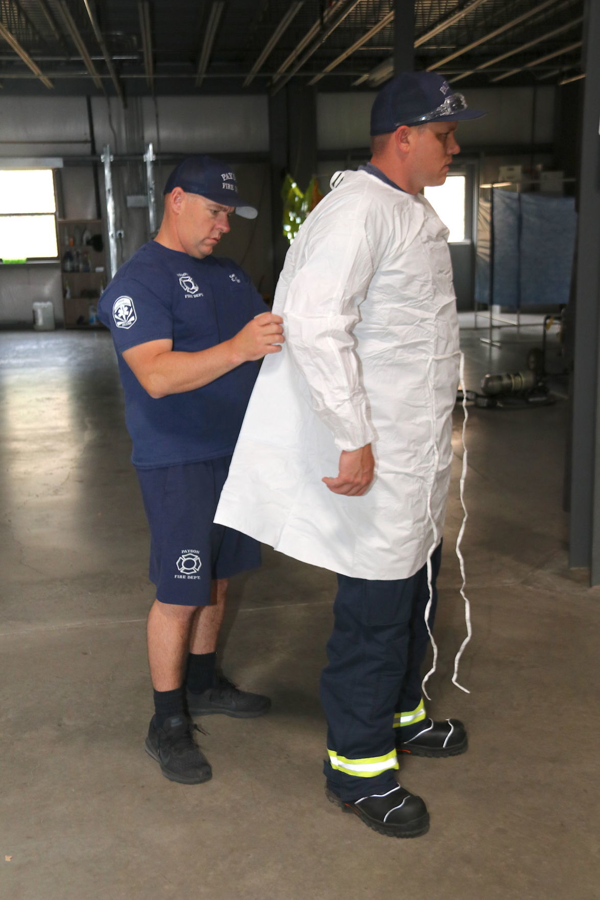 Payson fire putting on covid gear