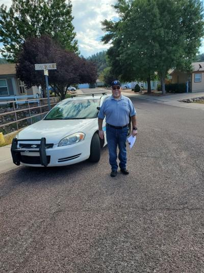 CERT door know for sewage spill Payson PD volunteer