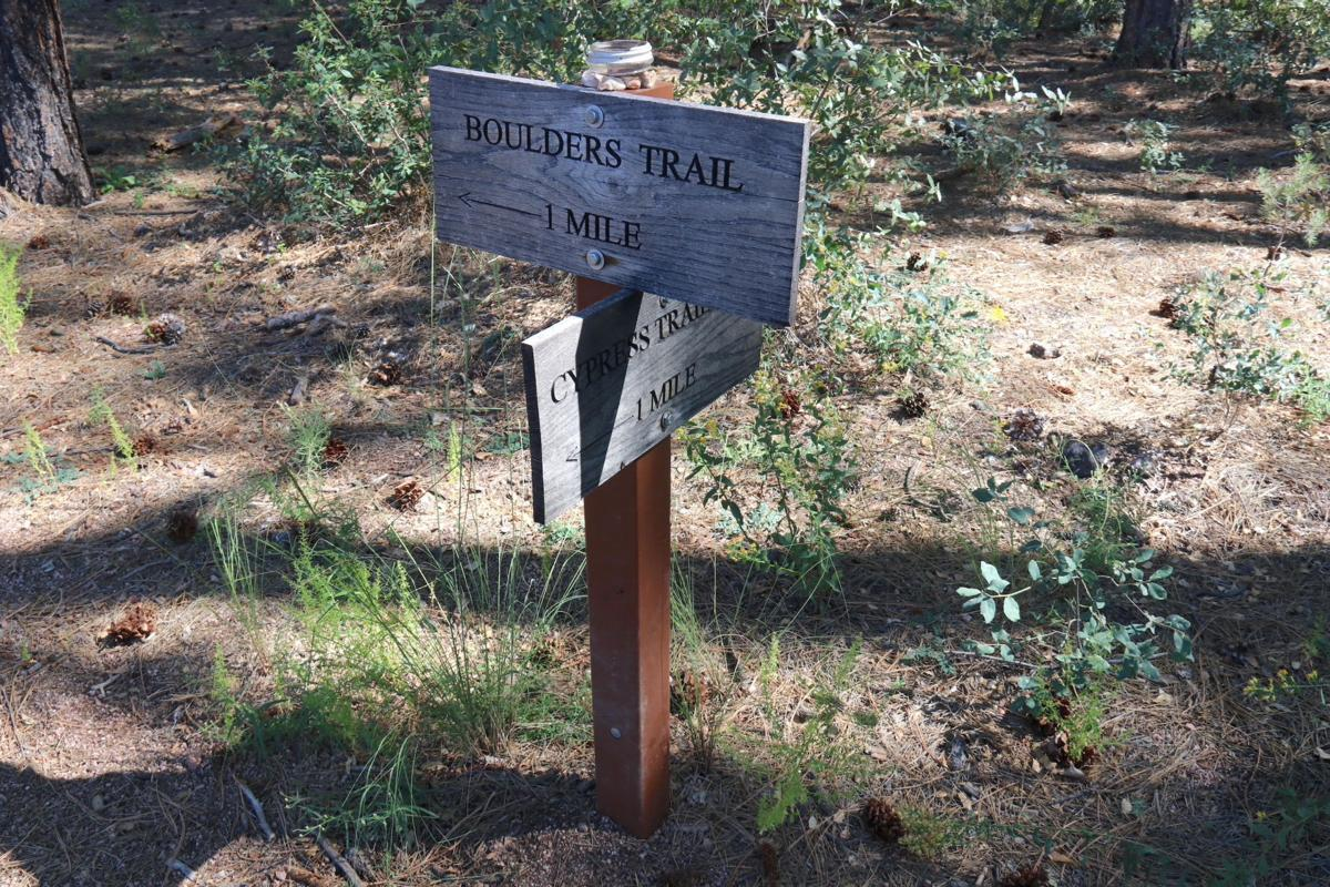 Phoenix trail access - Wooden trail signs