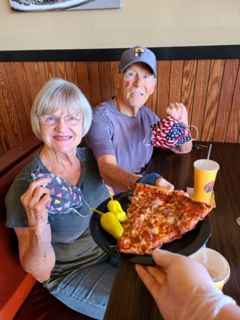 Pizza Factory Dine In Linda and Denny Morse 5-12-20