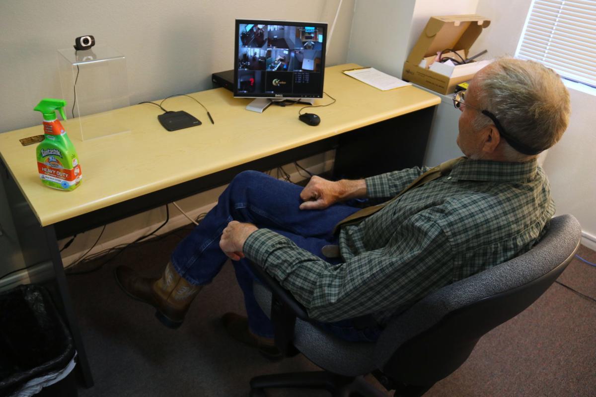 Dennis Pirch at his proctor desk