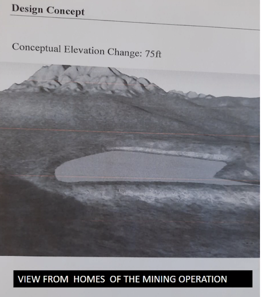 concept of elevation change for mine project by mclane
