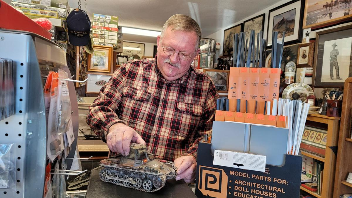 Bison 76-Terry Lowman With Model Tank