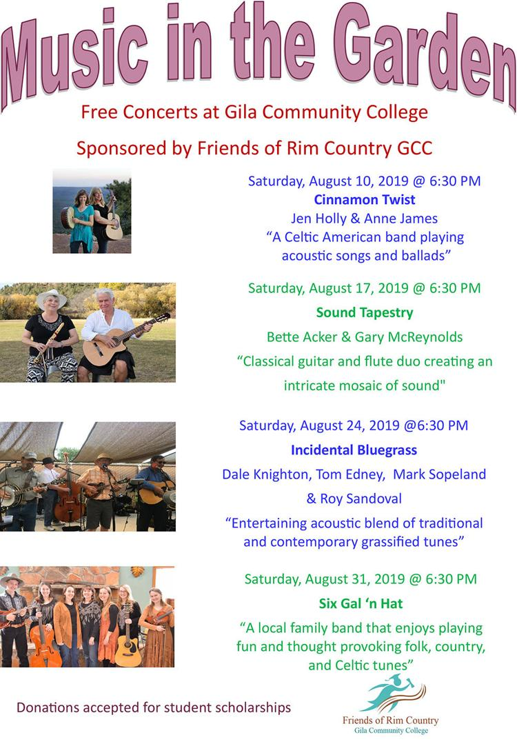 Music in the Garden Concerts GCC 2019