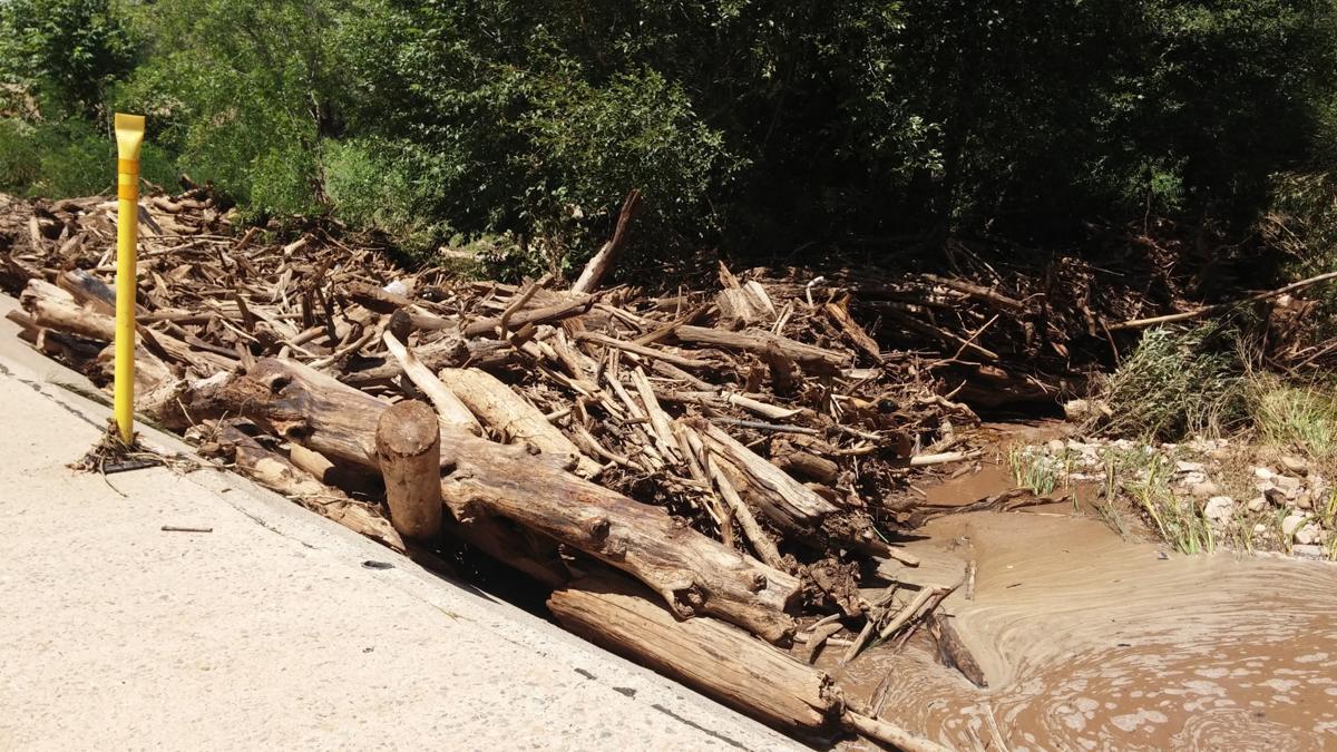 Debris at First Crossing on flowing springs road