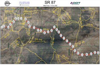 State route 87 mileposts 115 to 406