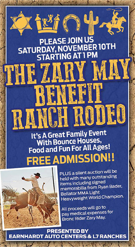 Zary May Benefit Ranch Rodeo