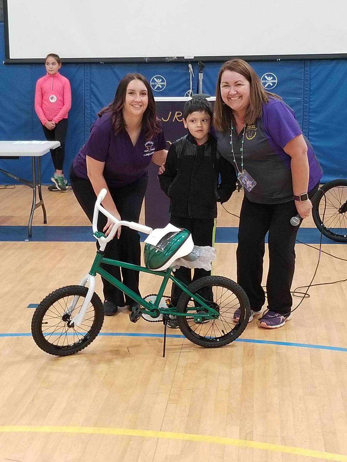 Three lucky JRE students have a new bike for summer - Bentley