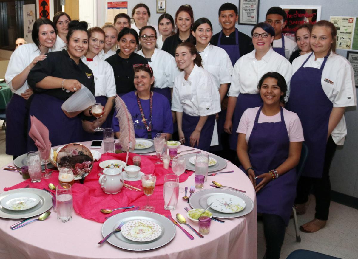 Glenna Spurlock and Culinary Arts Students