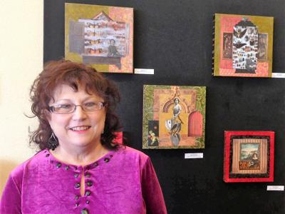 Lynn Clark, new art instructor at GCC to teach Mixed Media Collage and Beginning Watercolor