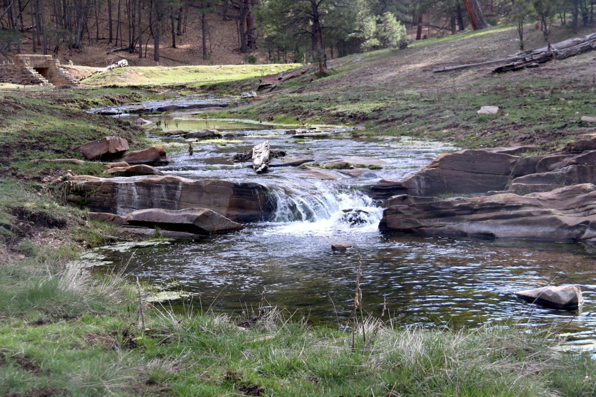 Clover Creek and bridge