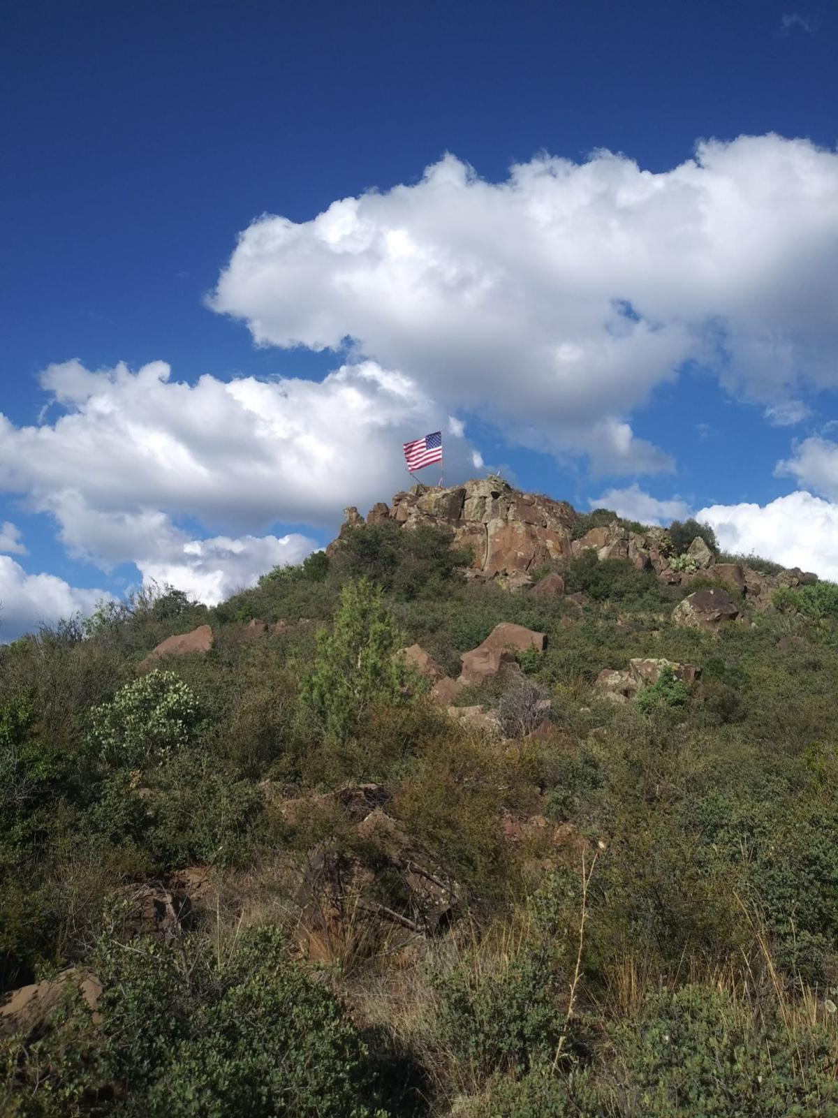 American Flag On Mountain Contributed