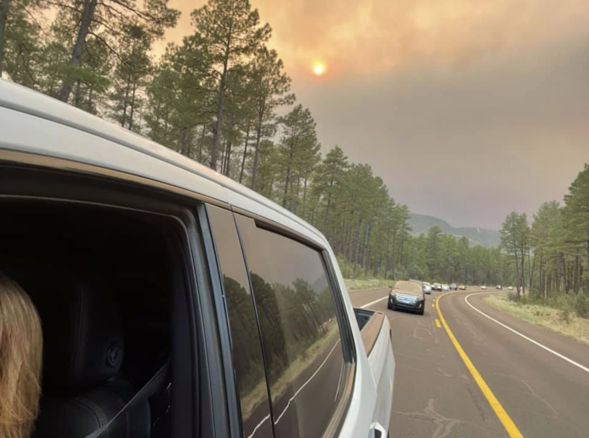 TrTrisha Dauwalder-Luna grabbed a shot of the evacuation traffic leaving Pine at 5 p.m. on June 18