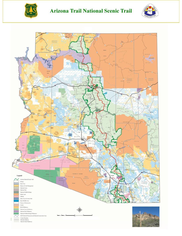 Arizona Trail map | | paysonroundup.com