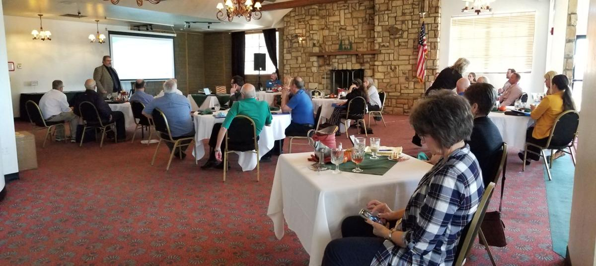 Chamber Lucheon Wide Shot Of Members At Tables