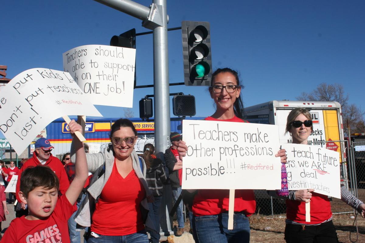 """""""We're worth it,"""" said teachers during Red for Ed march"""