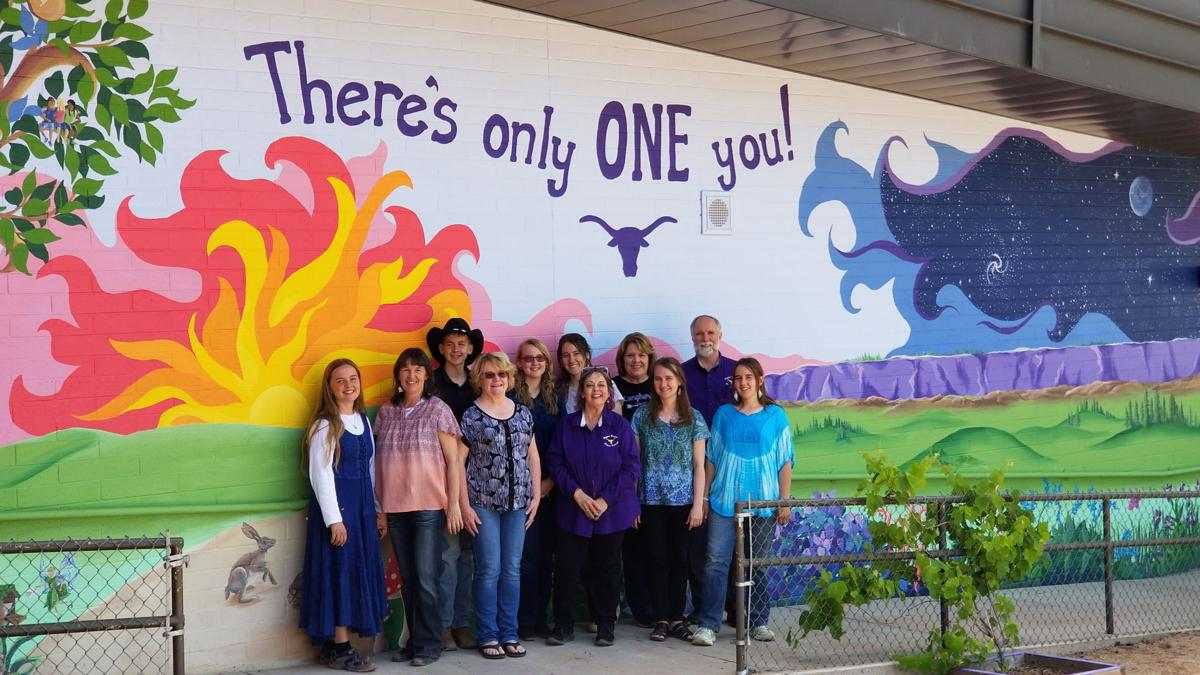 PES Beautification Group Along Mural