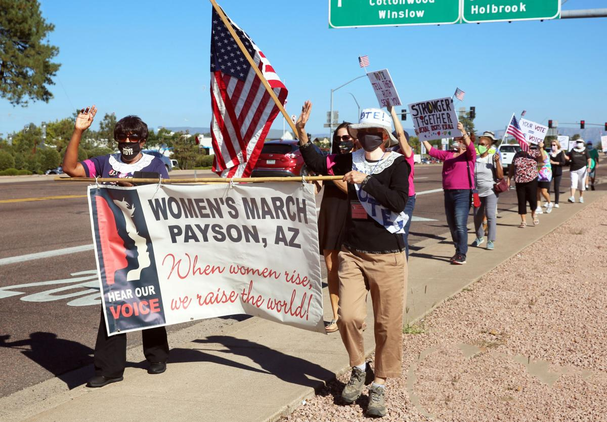 Marchers 2020 Women's March in Payson