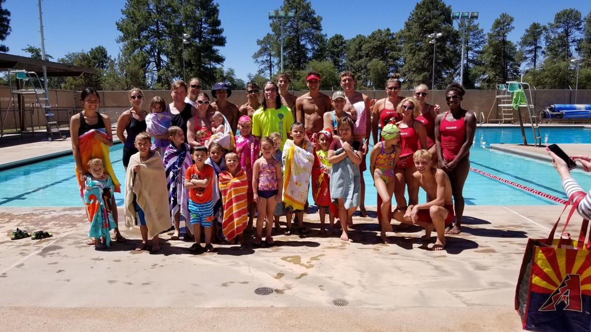 World's Largest Swimming Lesson Group Shot
