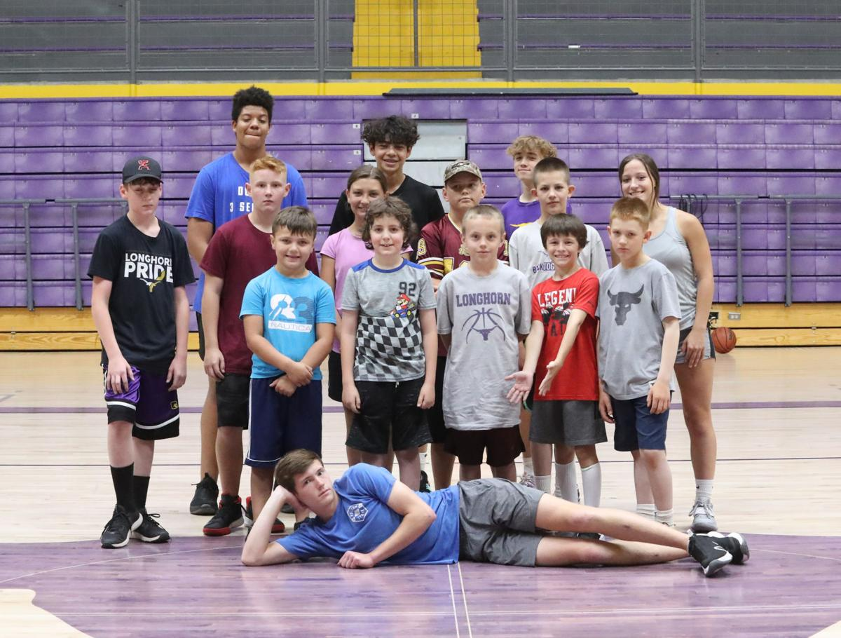 Basketball camp group shot