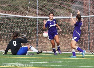 Girls Soccer v Holbrook Goal Celebration