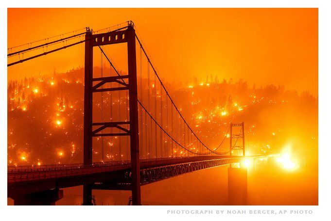 Smokey skies in San Francisco