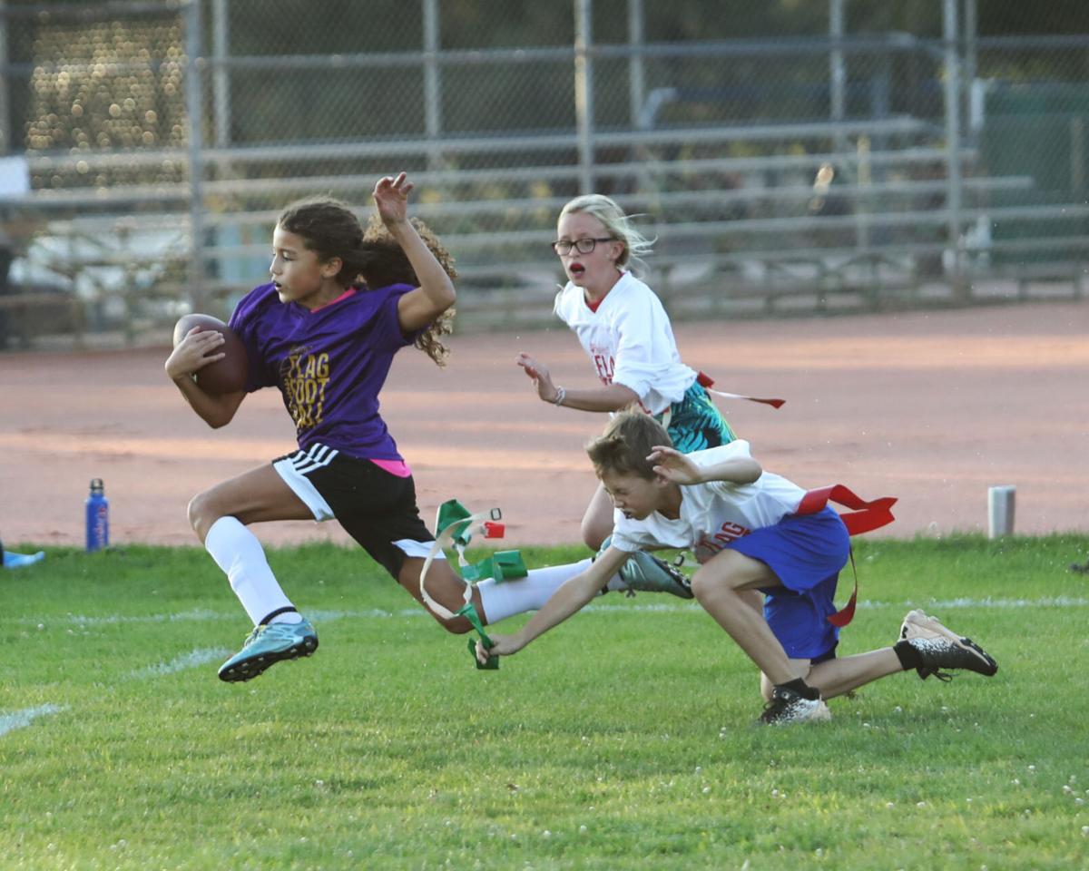 Flag Football Reaching For Flag