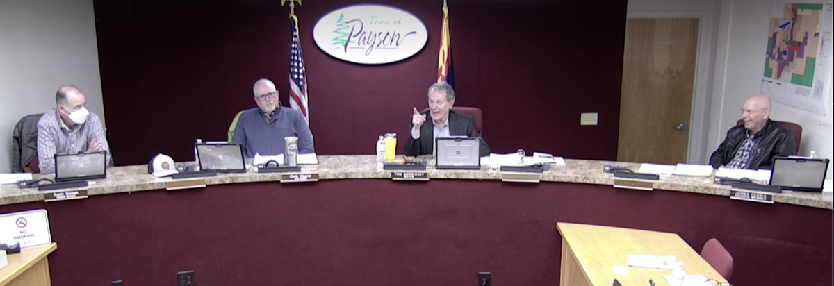 Morrissey and Ferris laugh during March 25 discussion of Prop 401 & 402