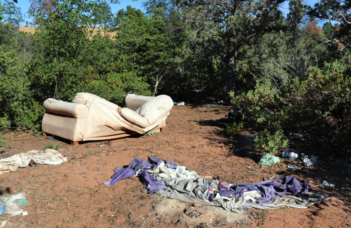 Homeless camp behind walmart