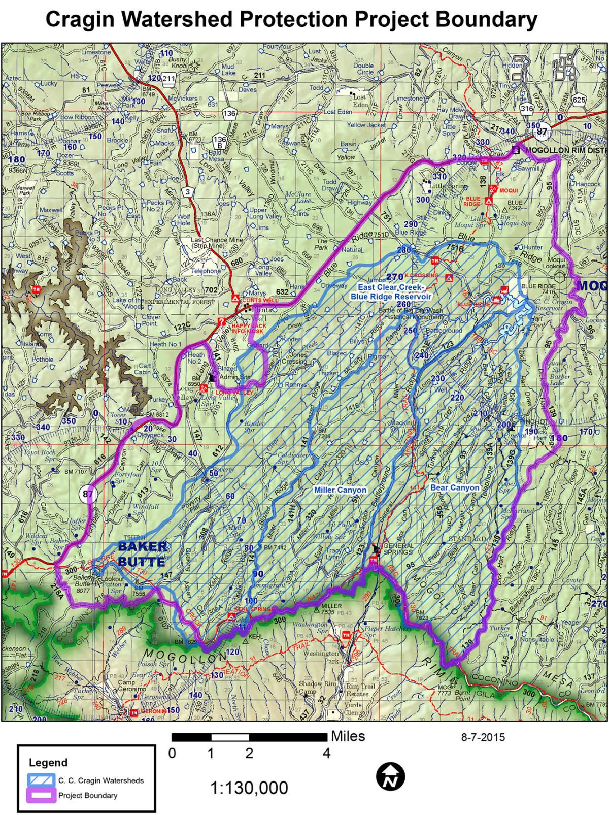 Map of C.C. Craigin watershed project