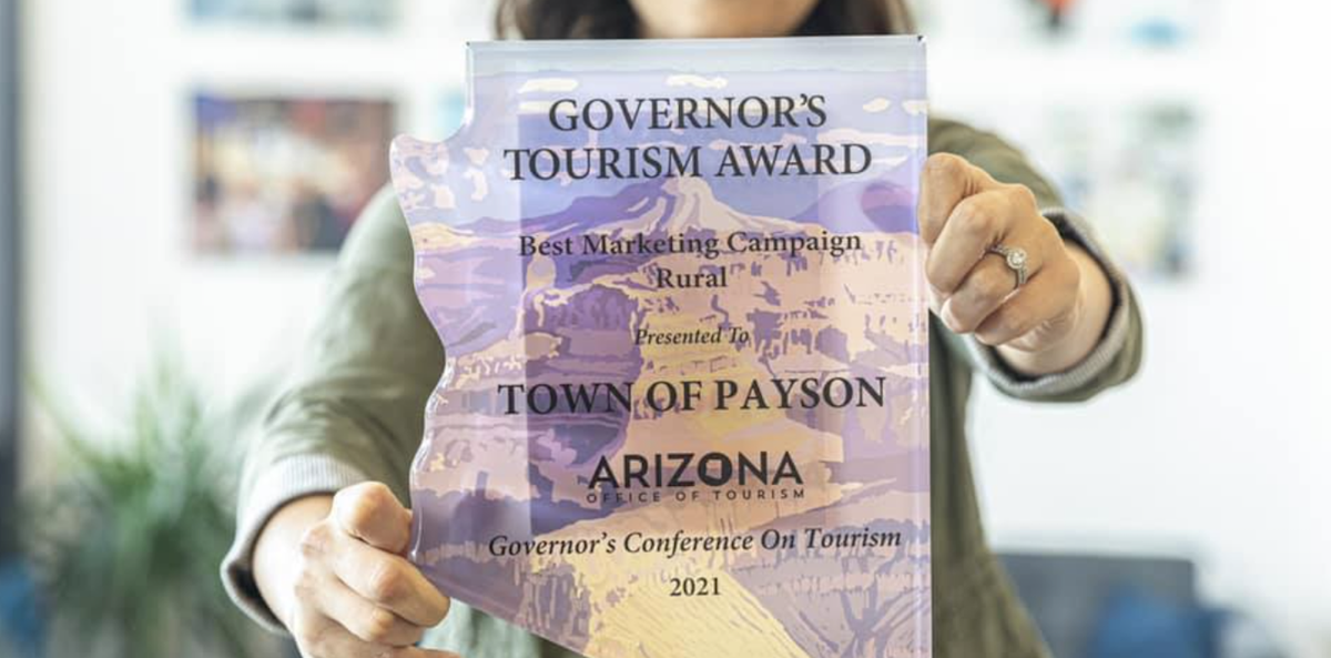 Close up 2021 Governor's Tourism Award for Best Rural Marketing Campaign