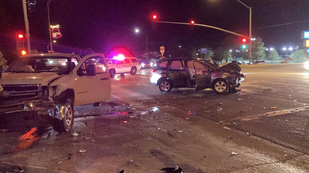 Two injured in accident Tuesday night