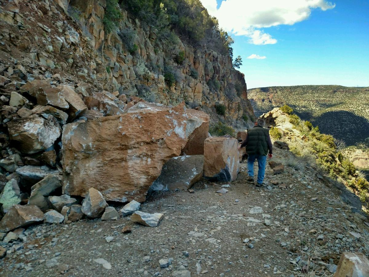 Fossil Creek Road rock damage