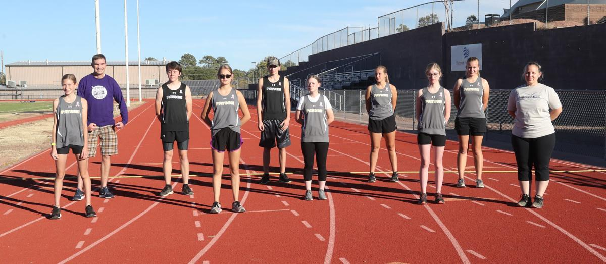 XC Team Spread Out At Practice 10-29-20