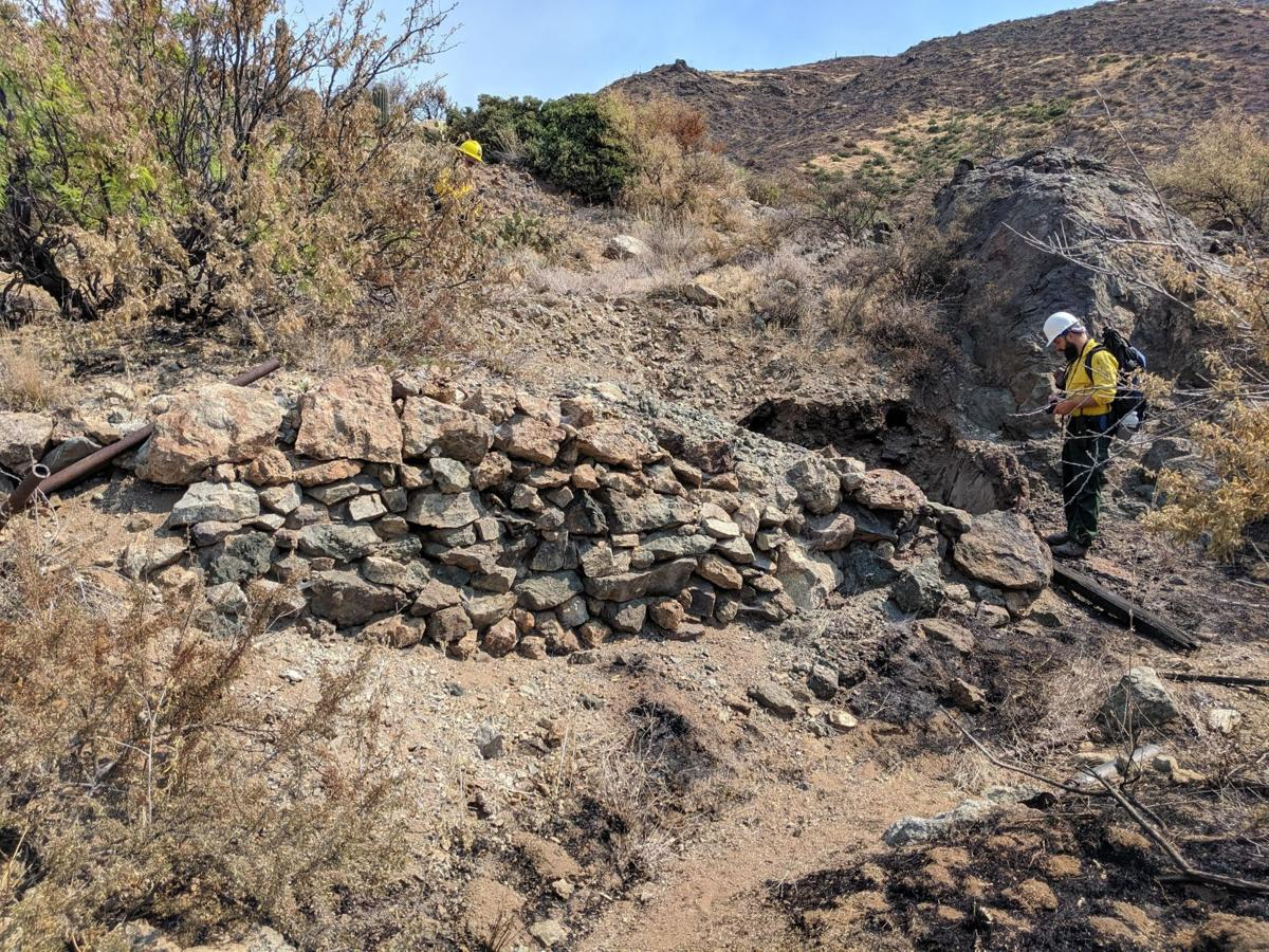 Woodbury Fire - BAER team members assess burn effects on significant archaeological sites