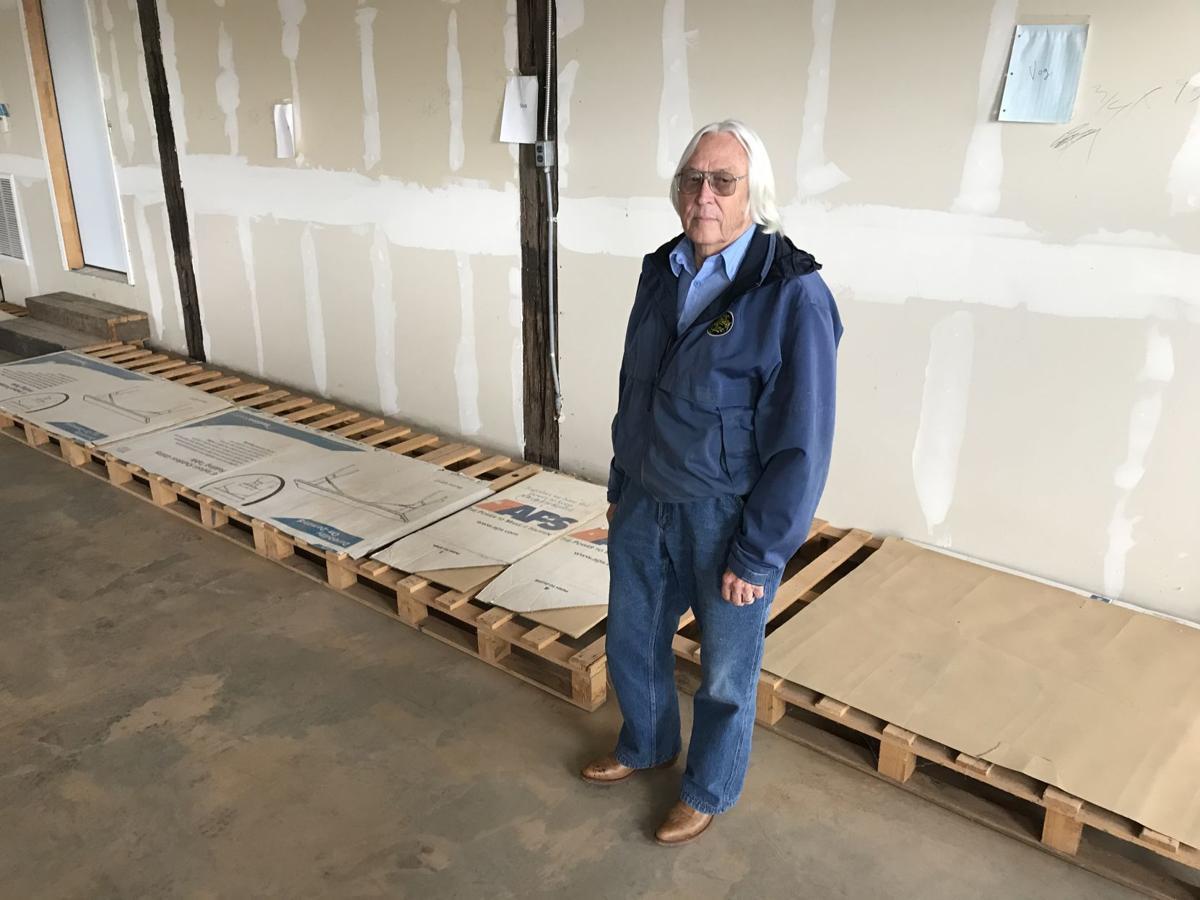Chuck Proudfoot empty pallets