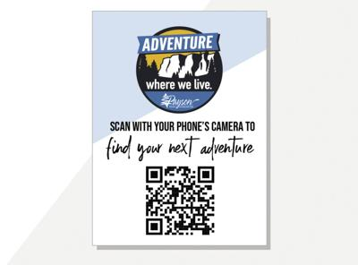 The sticker for the town of Payson's new QR campaign