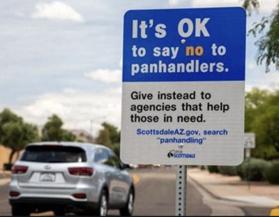 example of scottsdale panhandling sign