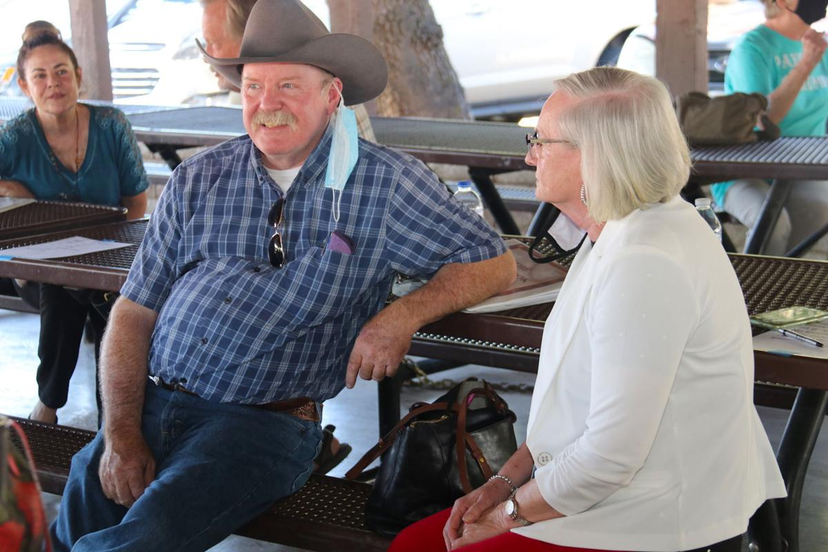 Supervisor Woody Cline relaxes at the Gila County Republican meeting on July 27